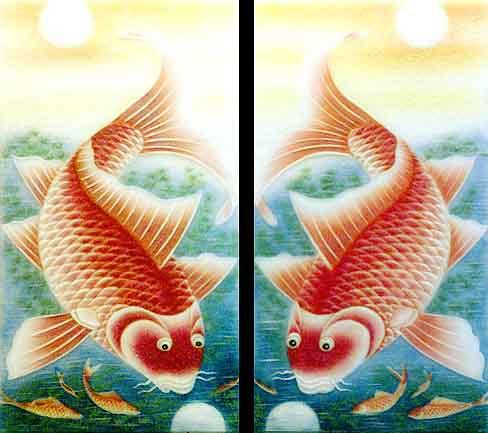 Kết quả hình ảnh cho tranh cá chép